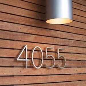 Silver House Number Sign Address Alphabet Letters Home Door Outdoor Waterproof