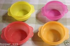 TUPPERWARE STAR BOWLS SET OF 4 IN EXPRESSION COLORS - NEW - FREE SHIPPNG