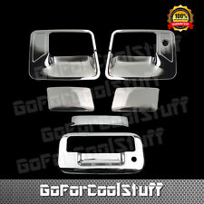 For 2008-16 Ford F250 F350 Super Duty Chrome 2 Door Handle Tailgate Cover