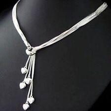 ASAMO Damen Halskette 5 Herzen 925 Sterling Silber plattiert Herzkette HA1092