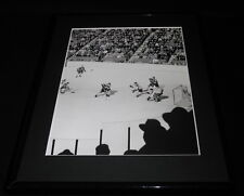 1955 Boston Bruins at Montreal Canadiens Framed 11x14 Photo Display