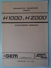 Original Gem H1000 - H2000  Electronic Organ Schematic Diagrams
