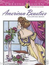 American Beauties Adult Colouring Book Calm Relaxing Art Therapy Anti Stress Zen
