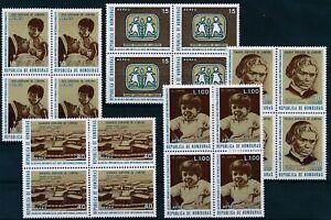 [P15228] Honduras 1972 : 4x Good Set Very Fine MNH Airmail Stamps in Blocks
