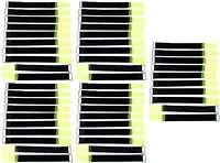 50x Kabelklettband 20 cm x 20 mm neon gelb Klettband Klett Kabel Binder Band Öse