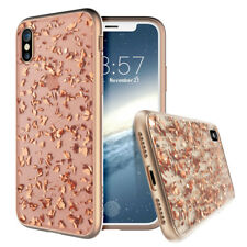 Prodigee Treasure Rose iPhone X and Xs Pink Flakes Glitter iPhone Clear Case