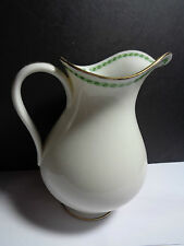 ANTIQUE A.LANTERNIER & CO LIMOGES JUG GREEN AND GOLD PATTERN REPLACMENTS