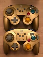 (2) Nintendo Switch Wireless Game Cube Controller Super Smash Bros Ultimate Gold