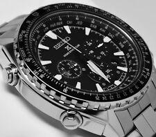 New Seiko SSG001 Radio Sync Solar Chronograph Stainless Steel Men's Watch