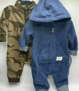 Boy's 3 Months (9-12.5lbs)  2-Pack Adorable Carter's Dinosaur Jumpers Outfits