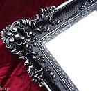 Espejo de Pared Negro Plata 96x57 Antiguo Barroco Shabby Chic pasillo 1