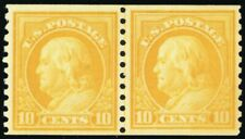 497, Mint 10¢ VF NH Coil Line Pair Cat $260.00 - Stuart Katz
