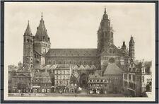 AK Mainz Dom von Westen s/w ca. 1930 (708-AK159)