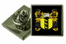 Nicholson England Family Crest Coat Of Arms Lapel Pin Badge Engraved Gift Case