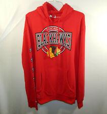 Chicago Blackhawks NHL Hockey Hoodie Hooded Sweatshirt Mitchell & Ness Size 2XL