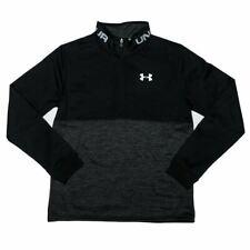Boy's Under Armour Junior Armour Fleece RFT 1/2 Zip Top in Black