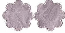 Nuevo.. Coderas - 100% Cuero-Color Rosa Pálido Metálico-Flor en Forma-en tendencia