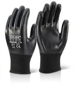 CLICK 2000 FLEX FLOOD CLEANUP Nitrile PU Palm Coated Gloves Breathable Lycra