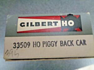 American Flyer / A.C.Gilbert #33509 Piggy Back Riss Flat Car, Crisp Orig. Box