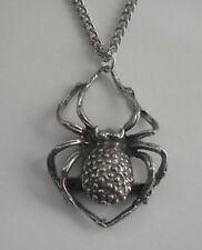 Chain Necklace #1016 Pewter SPIDER (20mm x 28mm)