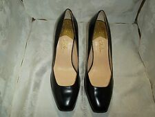 Cloe Hann nike air size 9 AA black flat toe high heel  leather women's shoes