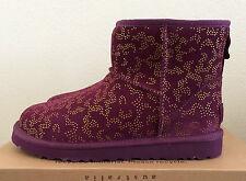 Womens 8 Berry Aster UGG Classic Mini Metallic Conifer Winter Boots Warm 1008562