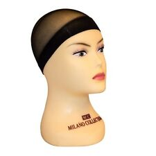 Milano Collection Professional Nylon Mesh Wig Stocking Liner Cap In Black 9 PACK