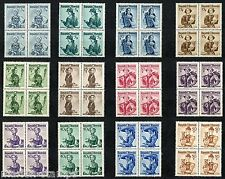 AUSTRIA COSTUMES BLOCKS OF FOUR  SCOTT#520/26 MINT NH FULL ORIGINAL GUM