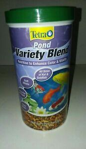 Tetra Pond Variety Blend Koi & Goldfish Sticks Fish Food Nutrition 5.29Oz