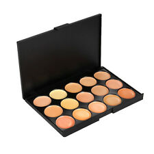 15 Colors Concealer Palette kit Face Makeup Contour Cream Brush Professional EH