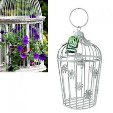 Farfalla Birdcage Fioriera Giardino Da Appendere Vaso di fiori arredamento erba Crema Contenitore