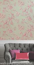 Amethyst & Cream, Perching Peacocks,  Windsor Wallpaper by Holden Decor