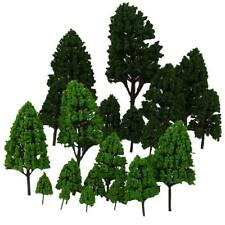 24pc Train Layout Model Trees 1:50-500 O-Z Scale Park Forest Diorama Scenery