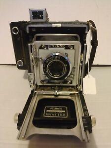 Graflex 2x3 Speed Graphic W/101mm 4.5 Optar - EXTRA BACK DOOR film pack adapters