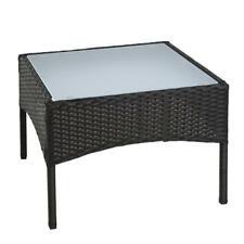 Polyrattan Beistelltisch Rattan Tisch Gartentisch Balkontisch Garten Möbel Glas