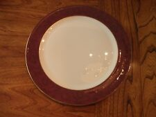 "Wedgwood Damask Ruby 12 1/4 Inch Round Service Plate/Platter/Charger ""TENNYSON"""