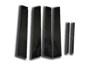 (6) Carbon Fiber Trim Pillar Panel Cover Set for 2006-2010 Honda Civic 8th Gen.