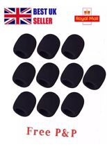 5Pcs Microphone Headset Windshield Sponge Foam Black Mic Cover 30*8mm