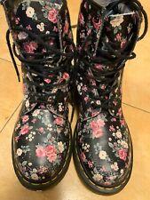 Dr. Martens Pascal Wild Botanics Boots Womens Combat Floral Sz8.5