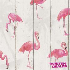 Barbara Becker Tapete / Rasch 479720 / Holz / Flamingo / Natur / EUR 2,27/qm