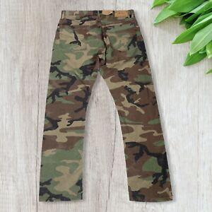 Polo Ralph Lauren Men's Varick Slim Straight Camouflage Stretch Cotton Jeans NWT