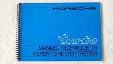 32A 154 1978 79 Porsche 911 turbo mode d'em Ploi Manuel d'entretien