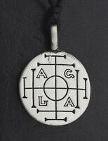 Collar Colgante Sceau Salomon Agla de Estaño Protección 26047 E6