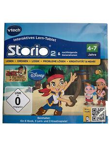 Vtech Storio 2 Storio 3 Lernspiel Jake und Nimmerland Piraten 4-7 Jahre NEU