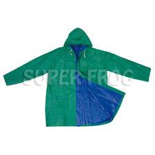 Bicolour Reversible Raincoat Waterproof Rain Coat PVC Jacket Rainproof Raincoats Green&blue