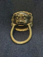 Door Knocker Brass Chinese Fu Dog Head