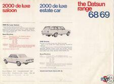 Datsun Nissan 1968-69 UK Market Single Sheet Sales Brochure 1000 1300 1600 2000