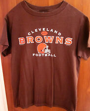 CLEVELAND BROWNS helmet logo small 2000 T shirt NFL plain tee football OHIO