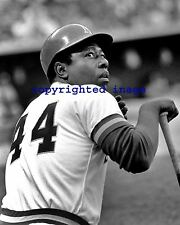 Hank Aaron 1975-76 Milwaukee Brewers Milwaukee  County Stadium  B+W 8x10 H