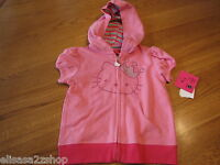 Hello Kitty girls Doll pink SS Hoodie with Crown RS HK54293 DLP 6 NWT *^
